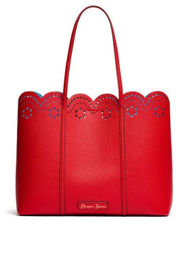 Red Scallop Tote by Draper James Accessories