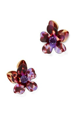 Purple Petal Pushers Statement Studs by kate spade new york accessories