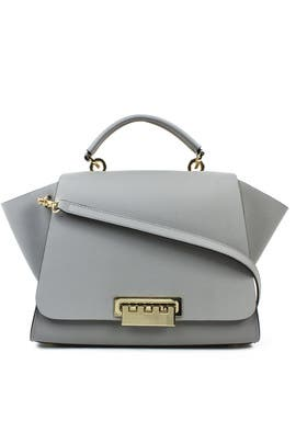 Grey Eartha Soft Top Handle Bag by ZAC Zac Posen Handbags