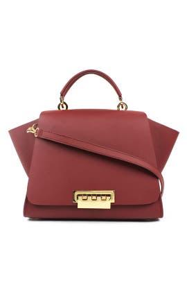 Red Eartha Soft Top Handle Bag by ZAC Zac Posen Handbags