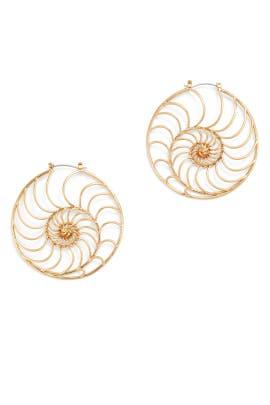 Fiddlehead Fern Earrings by Tory Burch Accessories