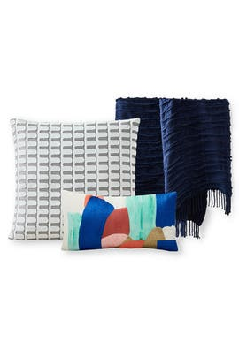 Bold Brushstrokes Brocade Pillow Bundle by West Elm