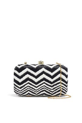 Chevron Box Clutch by Area Stars
