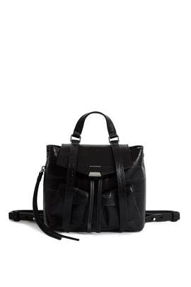 Black Polly Mini Backpack by AllSaints