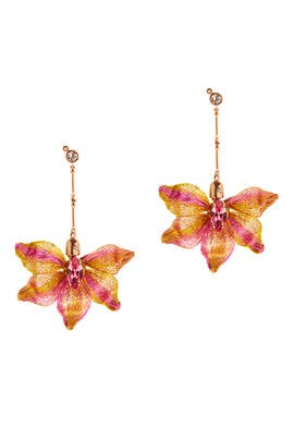 Mesh Dahlia Earrings by Colette Malouf