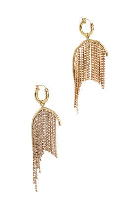 Latham Strass Chain Earrings by ELLERY Accessories