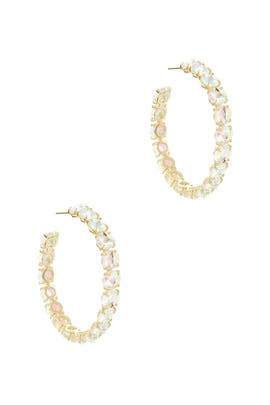 Dichroic Glass Hoops by Kendra Scott