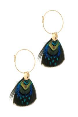 Bermudes Feather Earrings by Gas Bijoux