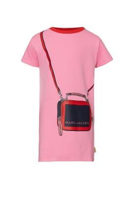 Kids Pink Trompe Loeil Dress by Little Marc Jacobs