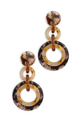 Honey Loop De Loop Earrings by Lele Sadoughi
