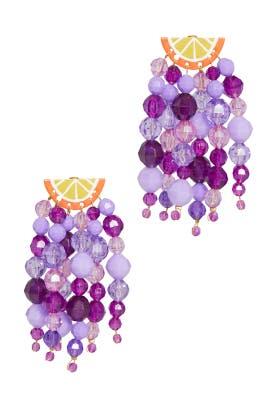 Orange Fizz Earrings by Susan Alexandra