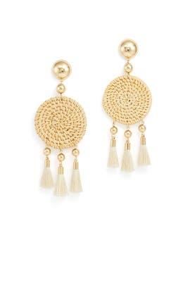 Woven Raffia Earrings by Ettika