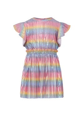 Kids Metallic Flutter Sleeve Dress by Crewcuts by J.Crew