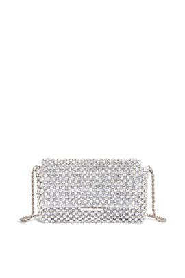 Silver Mimi Beaded Clutch by Loeffler Randall