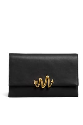 Black Doli Clutch by Mackage Handbags