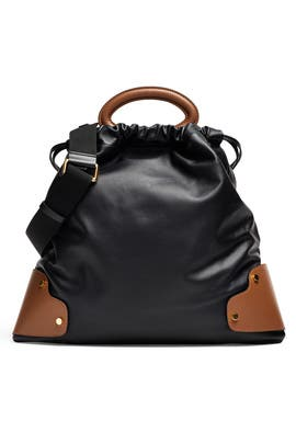 Black Leather Balloon Bag by Marni Accessories