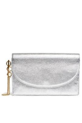 Silver Saddle Evening Clutch by Diane von Furstenberg Handbags