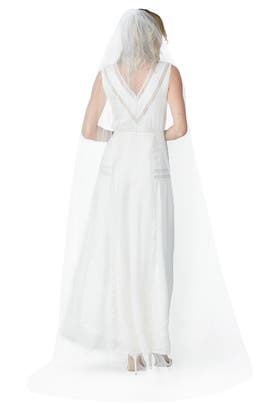 Diamond White Raw Edge Veil by Ever by Happily Ever Borrowed