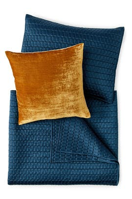 Full/Queen Gramercy Bedding Bundle- Blue by West Elm