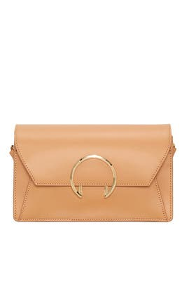 Tan Large Ring Clutch by Liebeskind