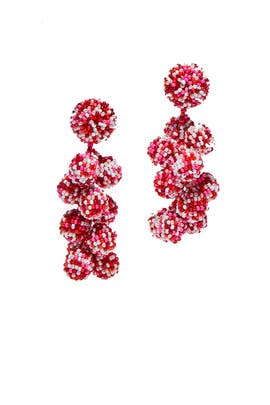 Red Coconuts Earrings by Sachin & Babi Accessories