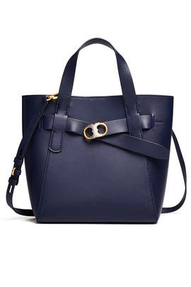 Navy Gemini Small Tote by Tory Burch Accessories