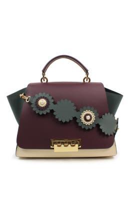 Colorblock Eartha Soft Top Handle Bag by ZAC Zac Posen Handbags
