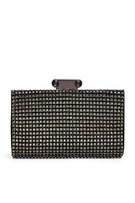 Black Cybill Clutch by Badgley Mischka Handbags