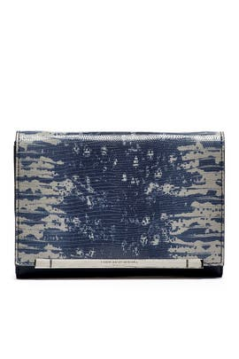 Navy Inez Clutch by Christian Siriano Handbags