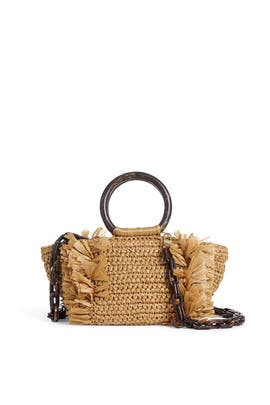 Khaki Corallina Raffia Bag by Carolina Santo Domingo