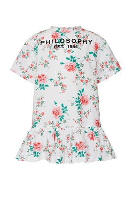 Kids Rose Logo Dress by Philosophy di Lorenzo Serafini Kids