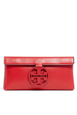 Ruby Red Miller Clutch by Tory Burch Accessories