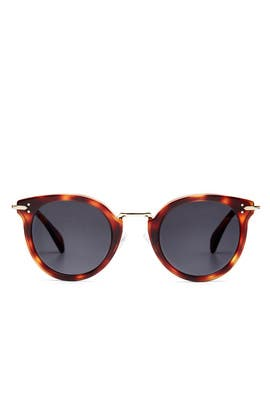 Gold Havana Sunglasses by Céline