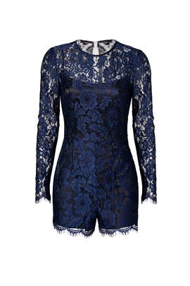 Midnight Lace Romper by Cynthia Rowley