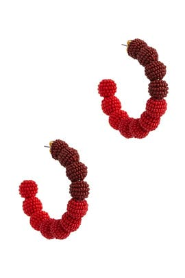 Red Ombre Camille Earrings by Sachin & Babi Accessories