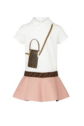 Kids Logo Bag Dress by Fendi Kids