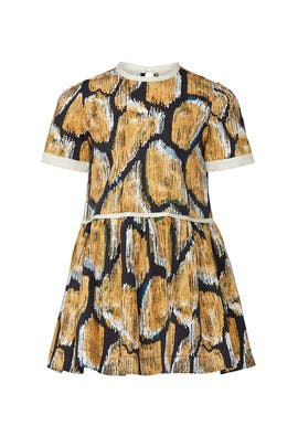 Kids Giraffe Print Dress by Harrison by Hunter Bell