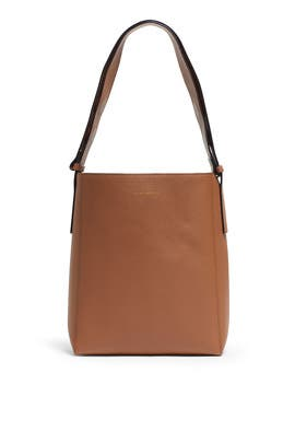 Solid Brown How Bag by Marge Sherwood