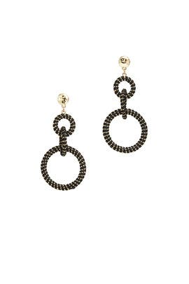 Black Wrapped Earrings by Slate & Willow Accessories