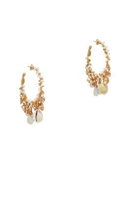 Shell Hoop Earrings by Gas Bijoux