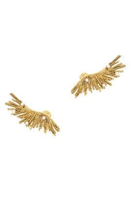 Pearl Burst Cuff Earrings by Oscar de la Renta