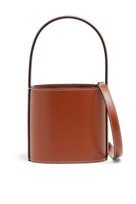 Tan Mini Bissett Bag by Staud Accessories