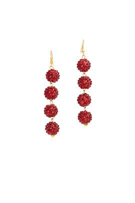 Red Bauble Earrings by Mad Jewels