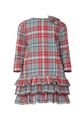 Kids Plaid Flannel Dress by Il Gufo Kids