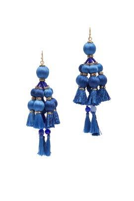 Blue Pretty Poms Tassel Earrings by kate spade new york accessories