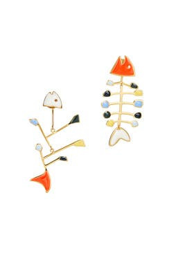 Fish Mismatched Earrings by Tory Burch Accessories