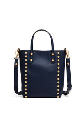 Navy Daisy Stud Tote by Annabel Ingall