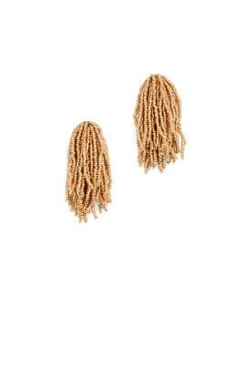 Gold Waterfall Earrings by Kenneth Jay Lane
