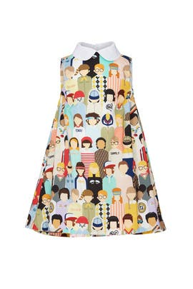 Kids Multicolour Dress by Fendi Kids