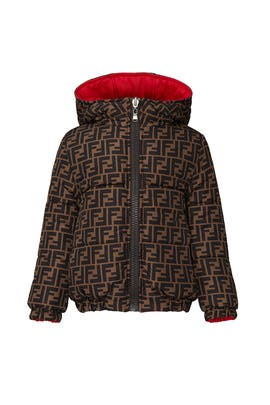 Kids Reversible Logo Print Coat by Fendi Kids